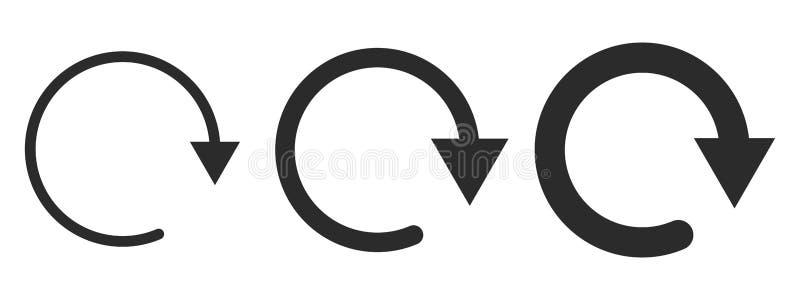 Sistemas de flechas circulares negras Ilustración del vector ilustración del vector
