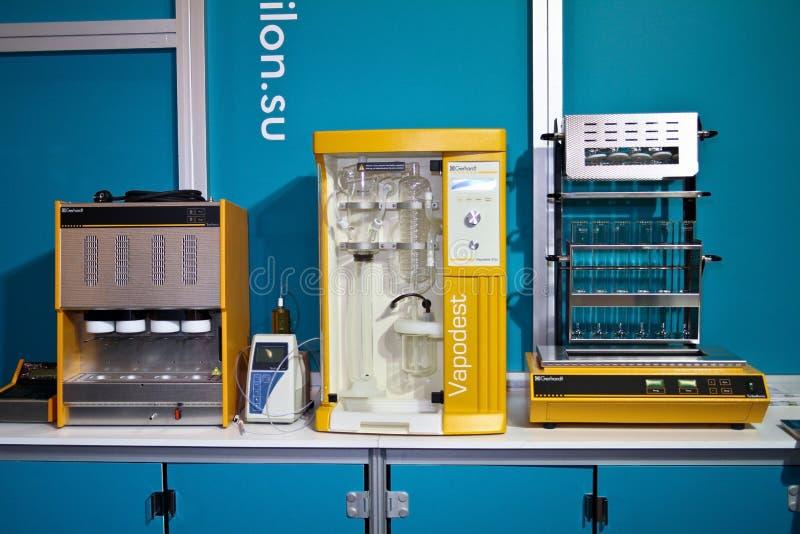Sistemas de la extracción y de la digestión de la destilación foto de archivo libre de regalías