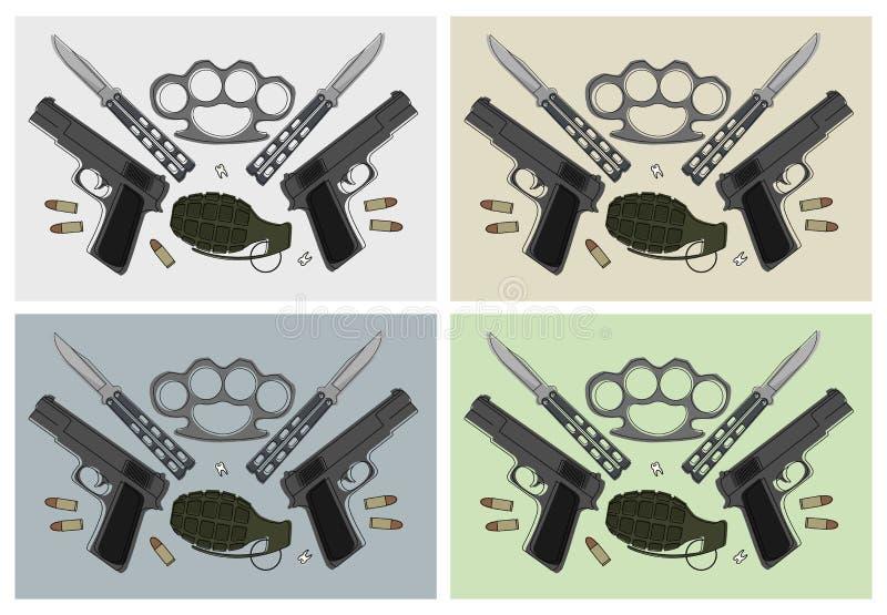Sistemas de las armas color stock de ilustración