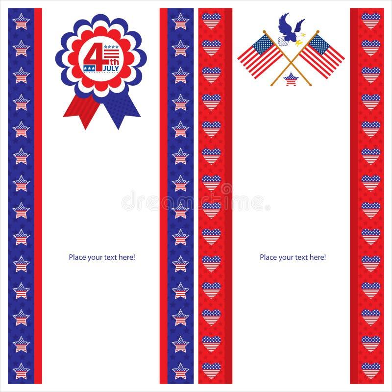Download Sistemas De Tarjeta Americanos De La Plantilla Del Día De La Independencia Ilustración del Vector - Ilustración de americano, azul: 41914772