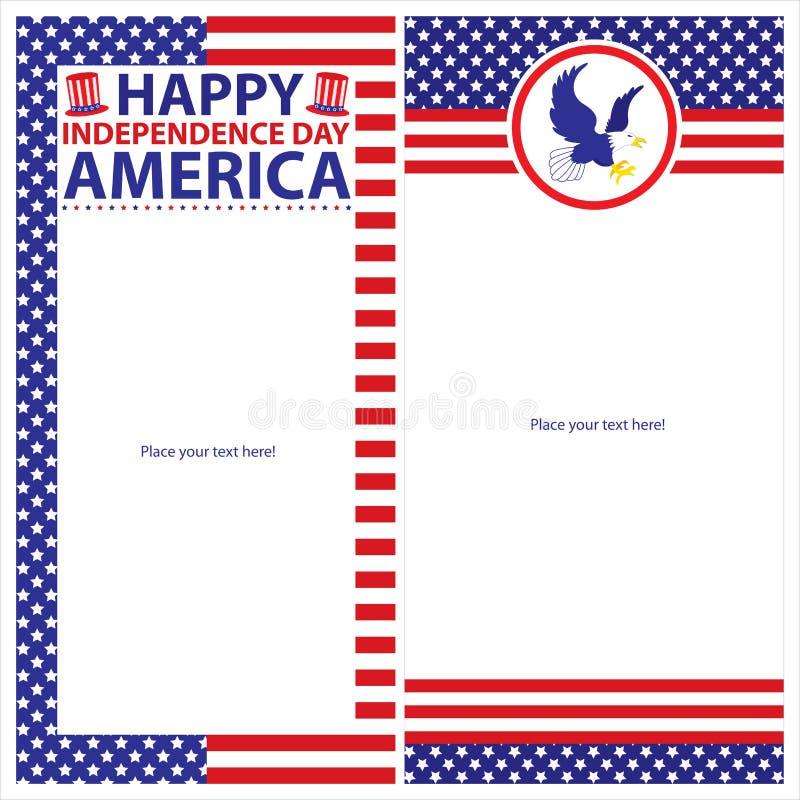 Download Sistemas De Tarjeta Americanos De La Plantilla Del Día De La Independencia Ilustración del Vector - Ilustración de marco, icono: 41915126