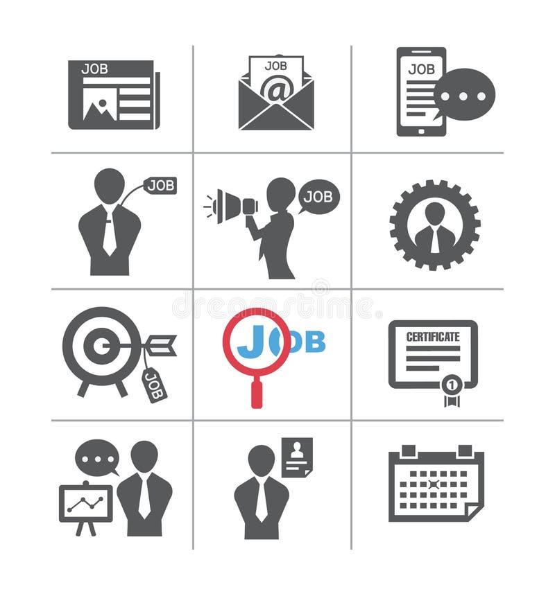 Sistemas del trabajo, en el icono del estilo ilustración del vector