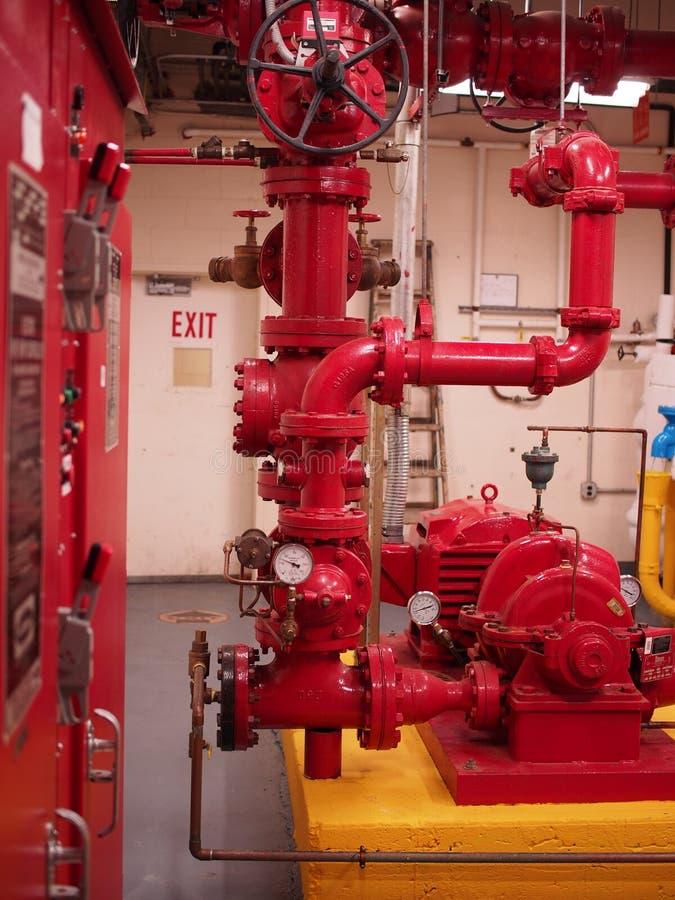 Sistemas do sistema de extinção de incêndios e do Standpipe da bomba de fogo imagens de stock