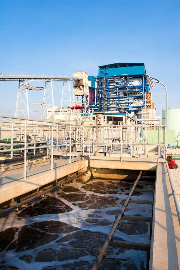 Sistemas do tratamento da água de Wast imagens de stock royalty free