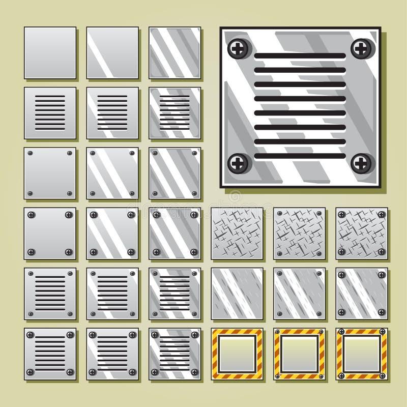 Sistemas militares de la teja para el videojuego libre illustration
