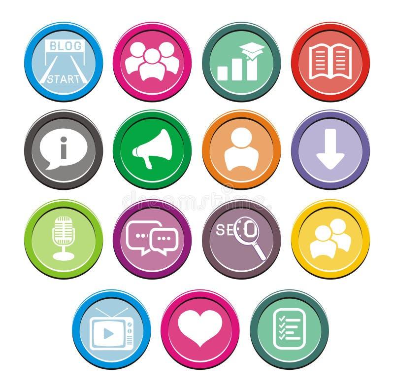 Sistemas redondos del icono del blog libre illustration