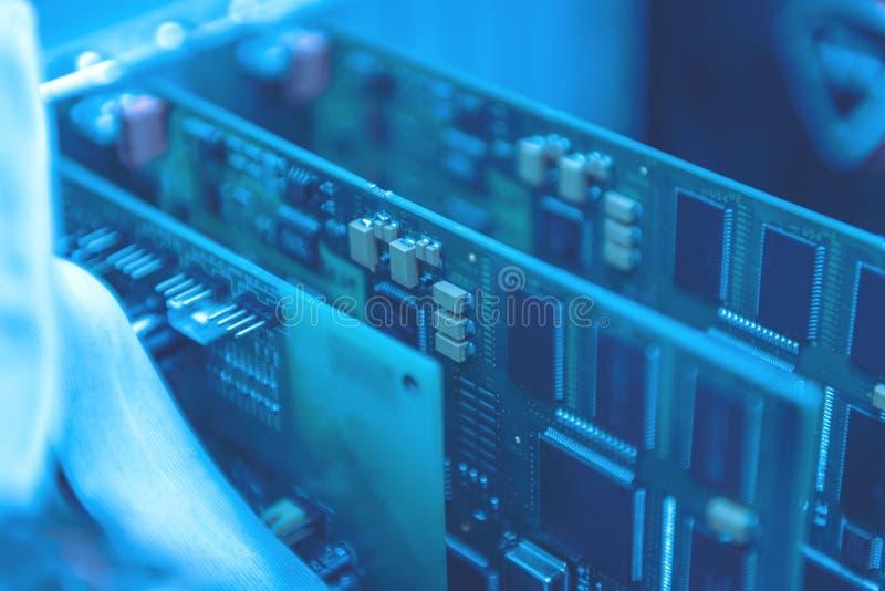 Sistemi elettronici del circuito dispositivo e componenti fotografia stock libera da diritti
