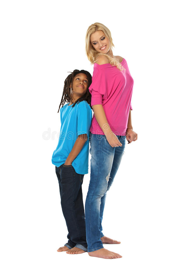 Download Sister And Bother Posing In Studio Stock Image - Image: 22666551