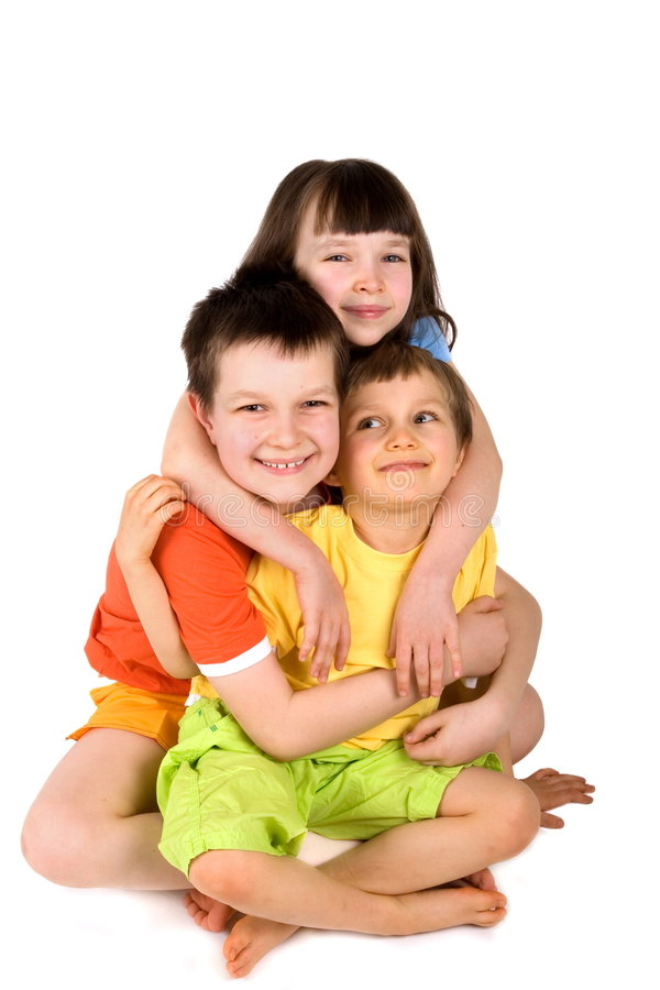 Download Sister and brothers stock photo. Image of cheerful, three - 2191556