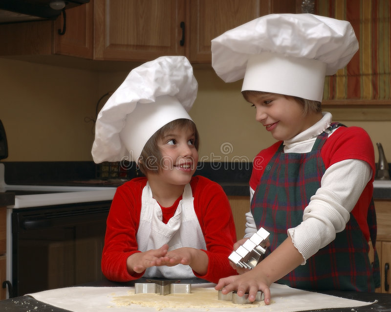 Sister chefs stock image