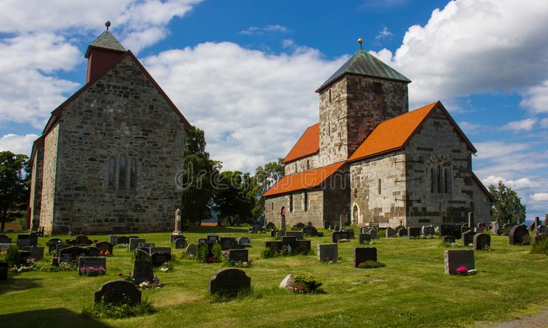 The Sister Churches in Norway royalty free stock photography