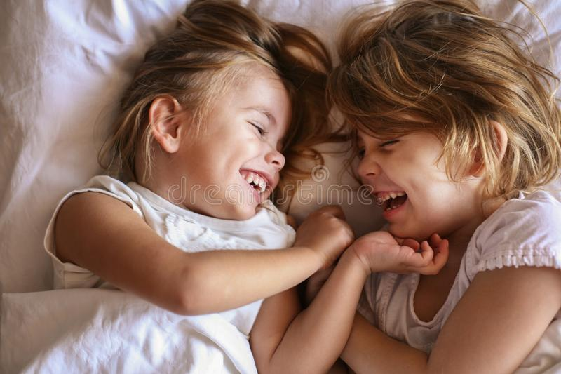 Sisters sharing moments of love. stock photo