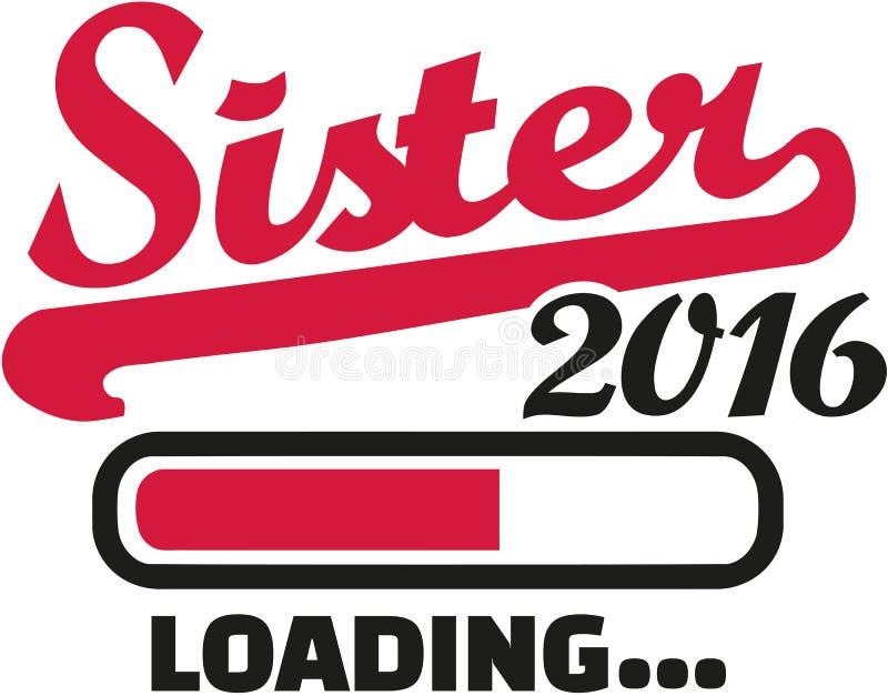 Sister 2016 Loading bar. Vector royalty free illustration