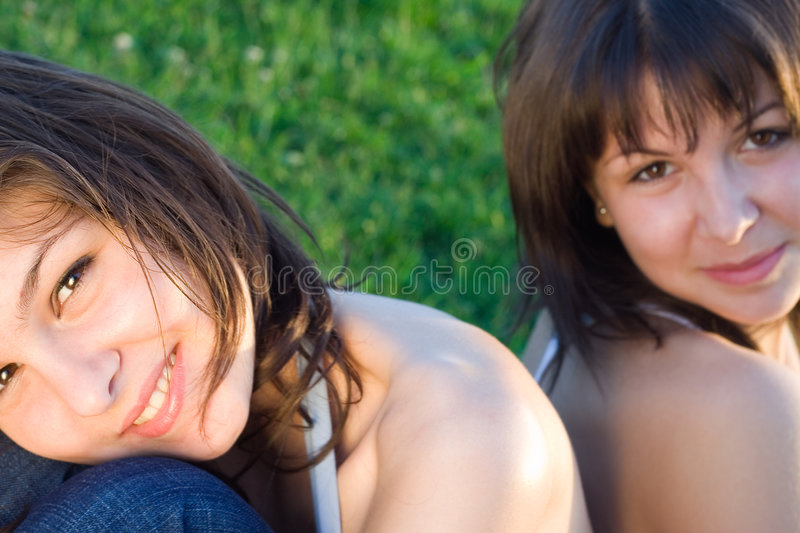 Sister Love. Sisters having fun royalty free stock photography