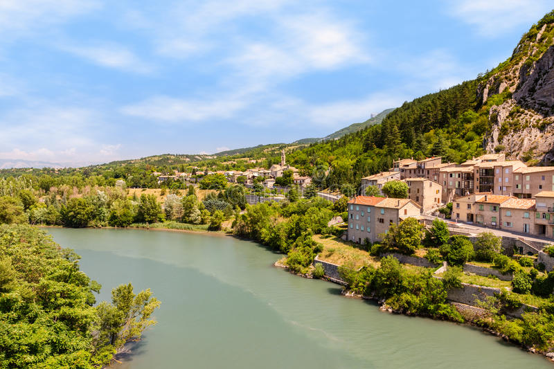 Sisteron στην Προβηγκία, Γαλλία στοκ φωτογραφία