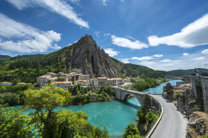 Download Sisteron stock image. Image of provence, city, outdoor - 33420779