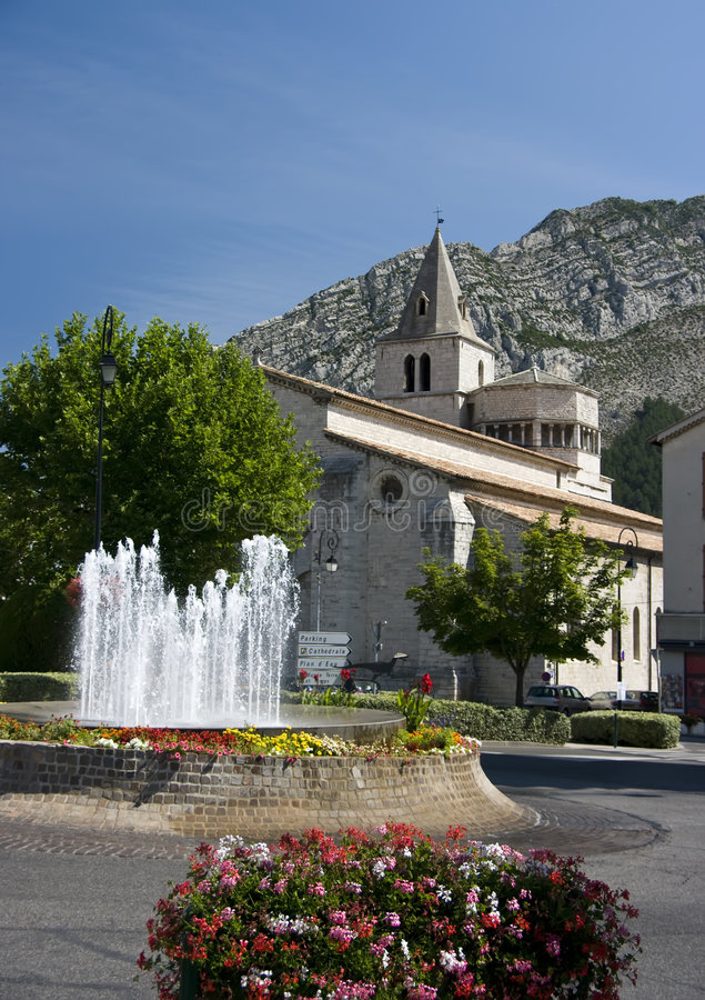 Download Sisteron cathedral, France stock image. Image of france - 6112851