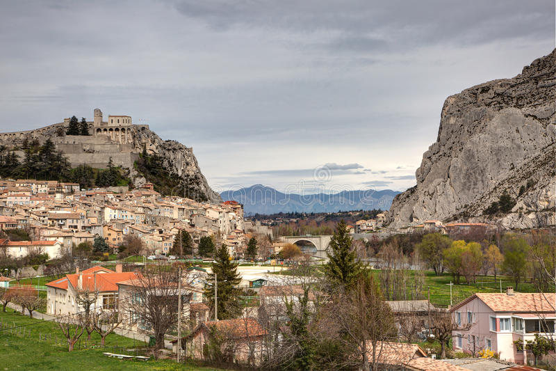 Download Sisteron - France Stock Photo - Image: 83715597