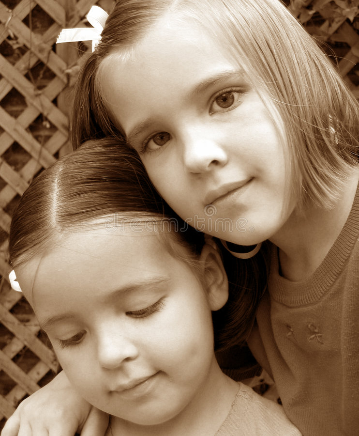 Sisters. royalty free stock images