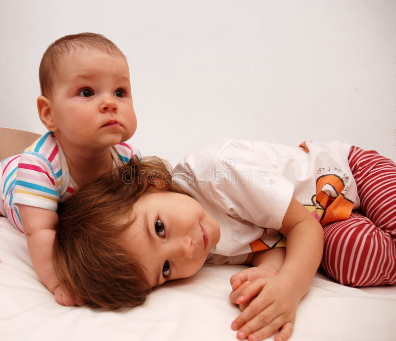 Download Sisters stock image. Image of inside, little, expression - 3974421