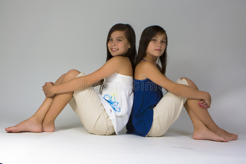 Sisters stock image