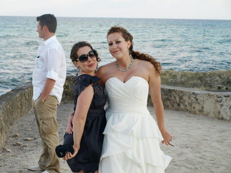 Download Sisters at beach wedding stock image. Image of ladies - 8696431
