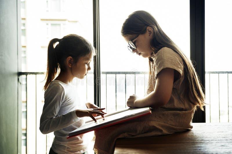 Sisters Friendship Ideas Imagination Creative Concept royalty free stock photos