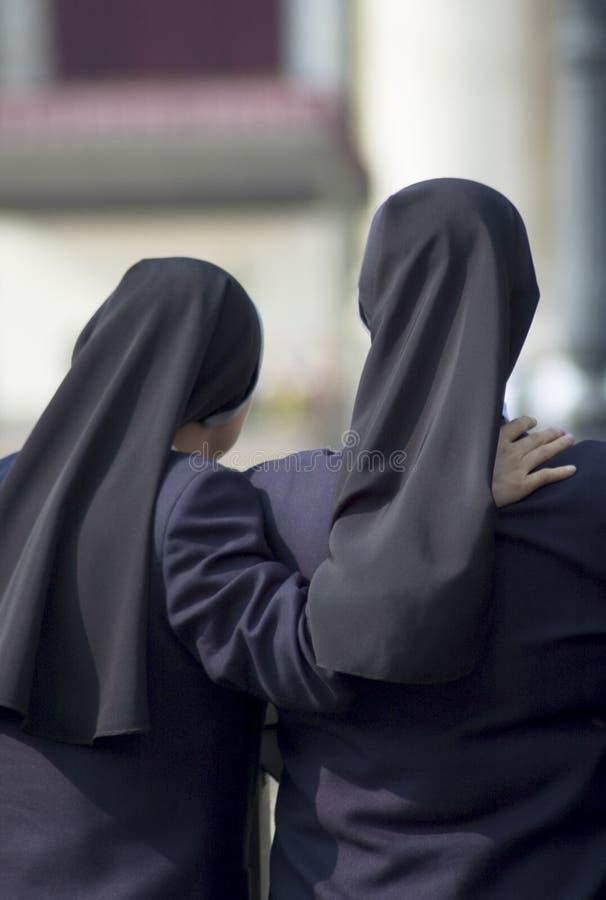 Sisters or Nuns royalty free stock photo