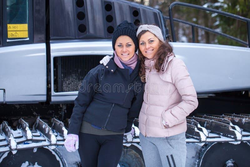 Download Sisters Posing On Ski Resort Stock Photo - Image of recreation, family: 83721574