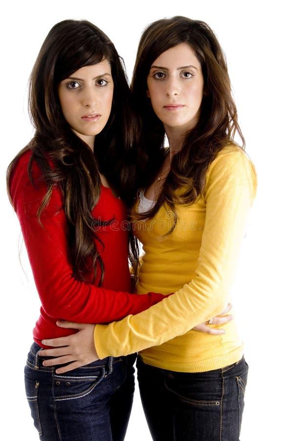 sisters together young στοκ φωτογραφία