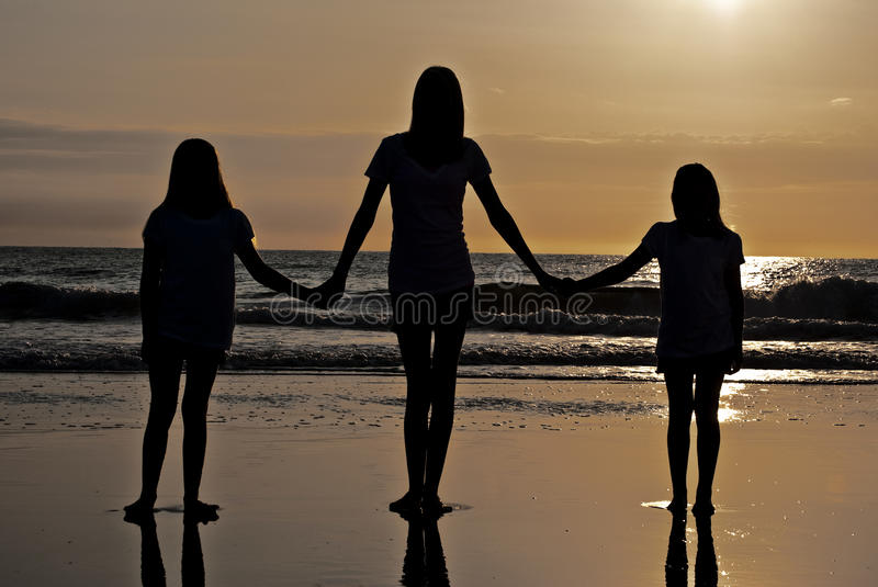 Sisters Unite royalty free stock photo