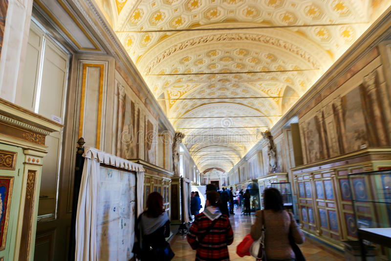 Sistine Chapel ( Cappella Sistina ) - Vatican, Roma - Italy. VATICAN CITY - April 27, 2015 paintings at Sistine Chapel ( Cappella Sistina ) - Vatican, Roma stock photography