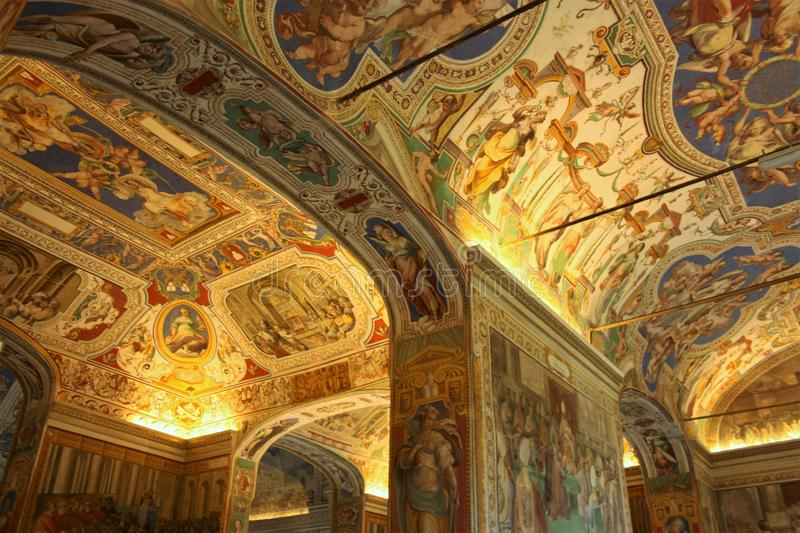 The Sistine Chapel. Is a chapel in the Apostolic Palace, the official residence of the Pope, in Vatican City. Originally known as the Cappella Magna, the chapel stock images