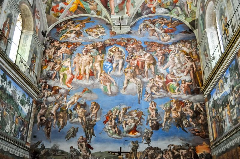 Sistine Chapel in Vatican museum royalty free stock photography