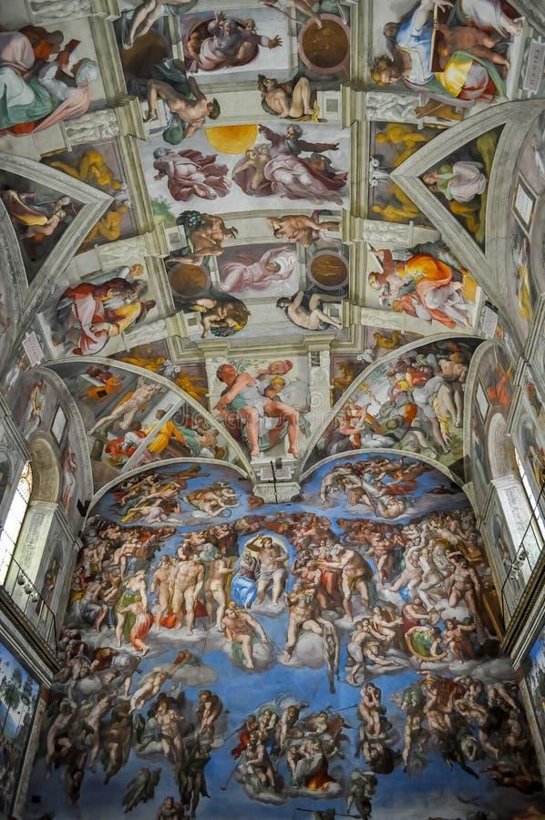 Sistine Chapel in Vatican museum stock photography