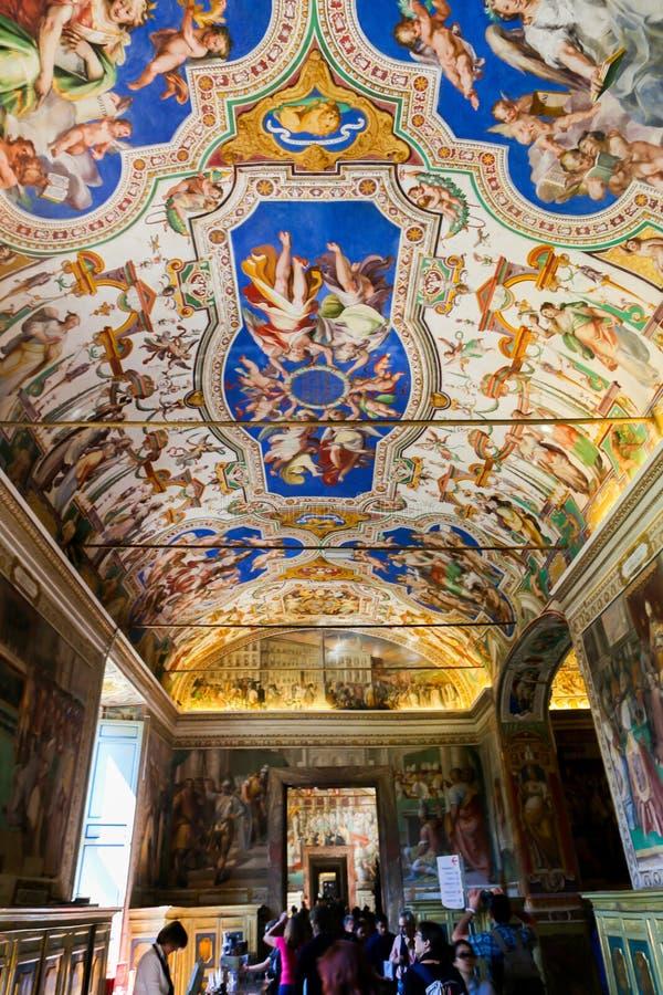 Sistine kapell (Cappella Sistina) - Vaticanen, Roma - Italien arkivfoton