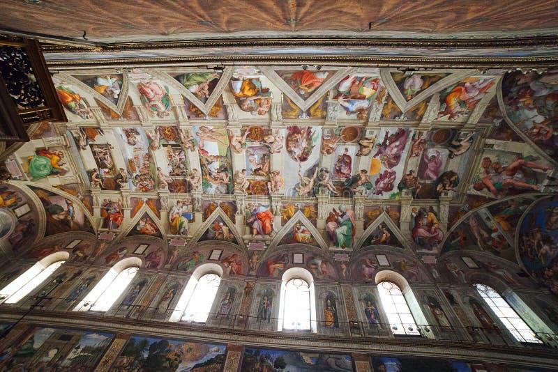 Sistine kapell, Vatican. royaltyfria foton