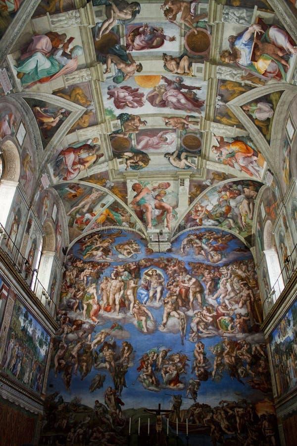 Sistine Kapelle lizenzfreies stockfoto