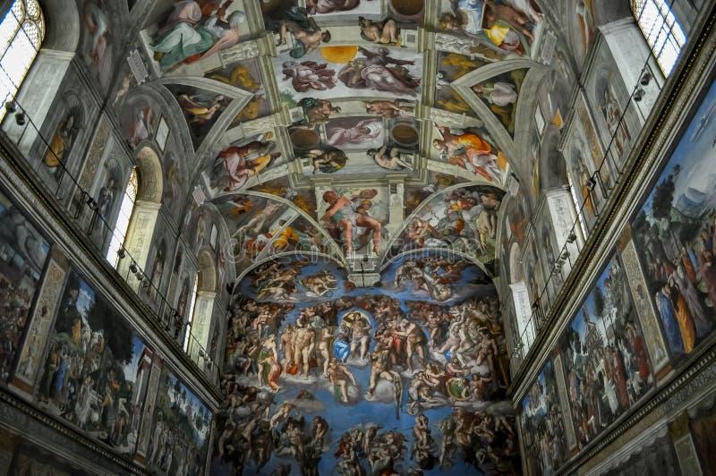 Sistine-Kapelle in Vatikan-Museum lizenzfreie stockfotografie