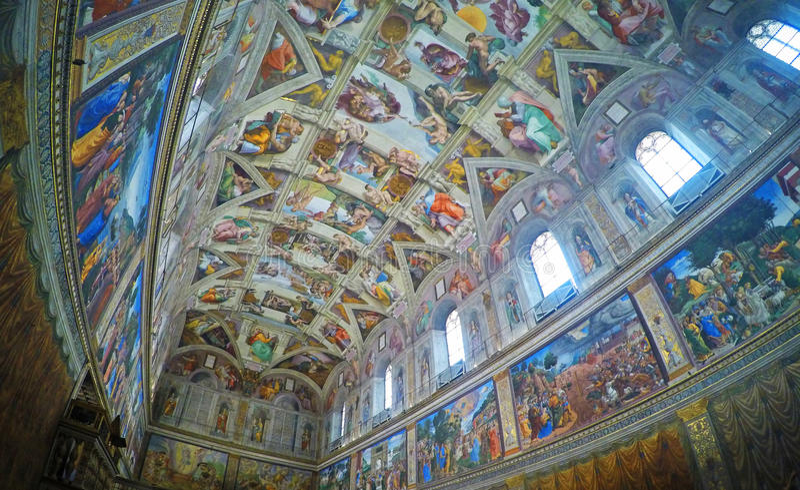 Sistine kaplica obraz royalty free