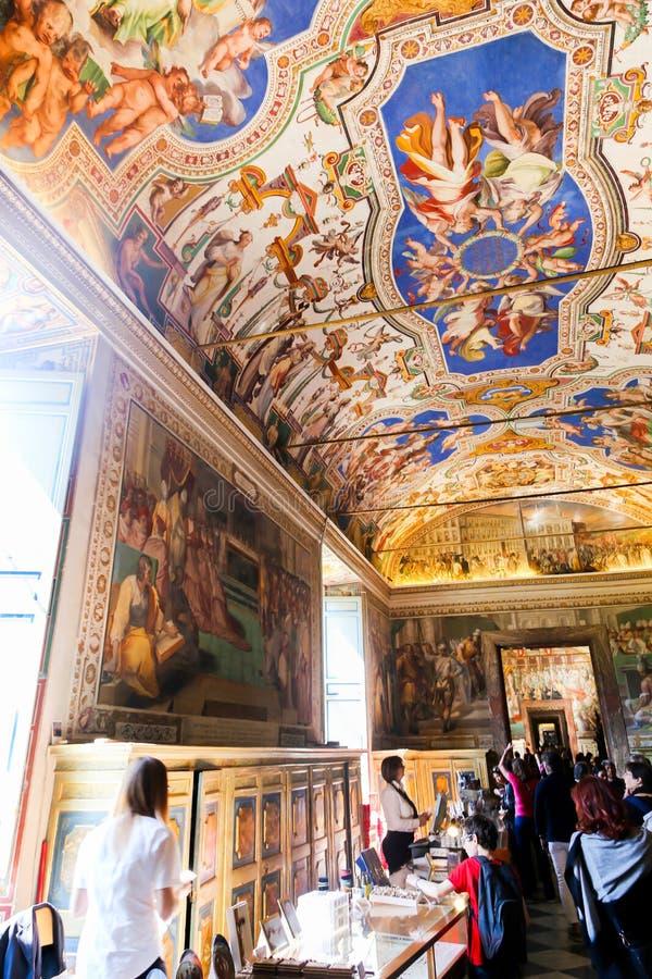Sistine kaplica (Cappella Sistina) - Watykan, Roma - Włochy zdjęcia stock