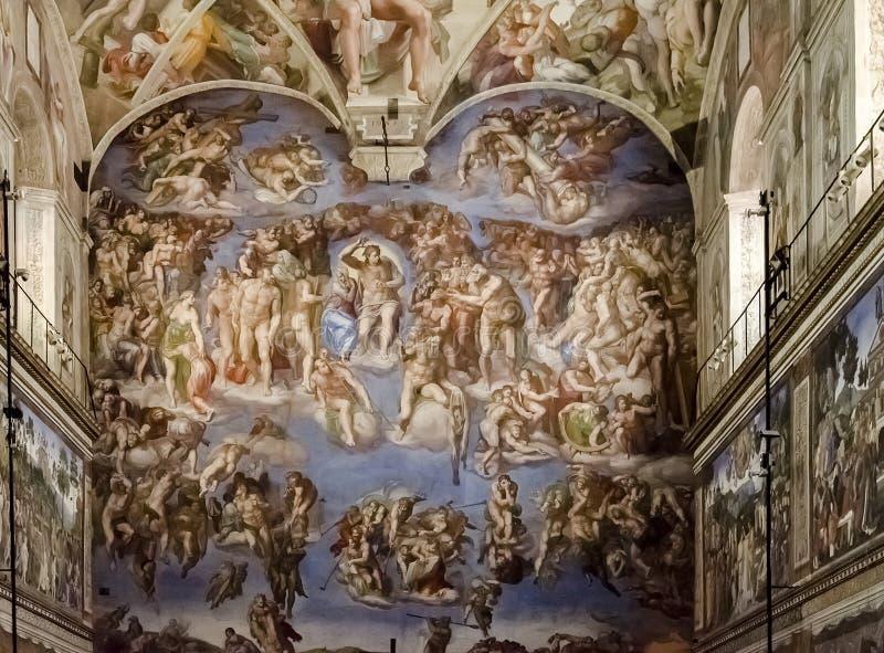 Sistine kaplica w Watykan obrazy royalty free
