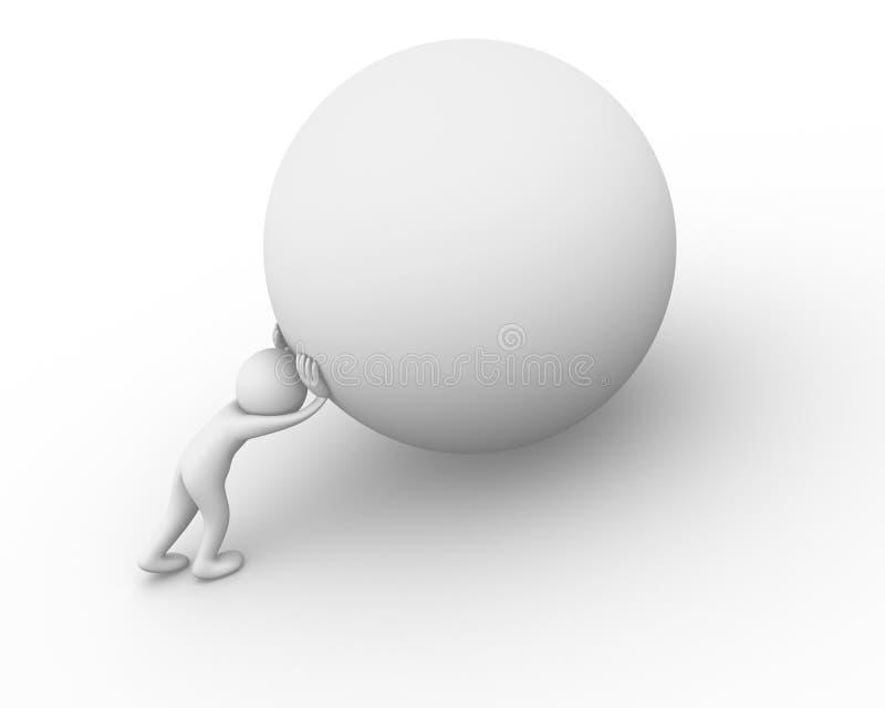 Sisyphus illustration de vecteur