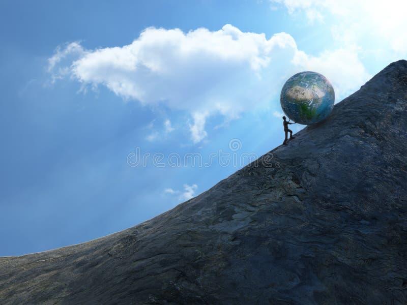 Sisyphus photographie stock libre de droits