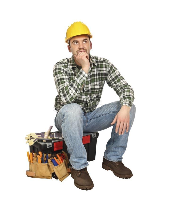 Sit handyman stock images