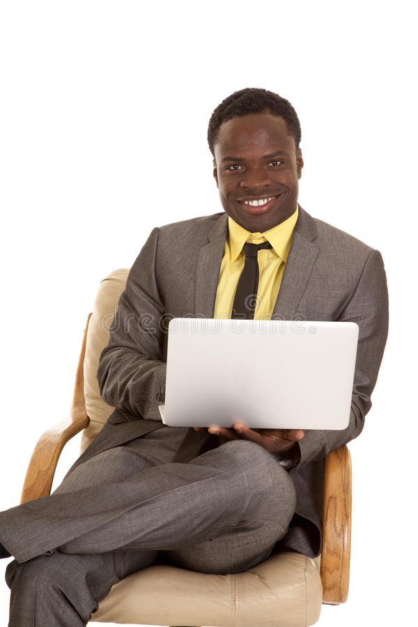 Download Sit laptop work stock image. Image of handsome, face - 24044797