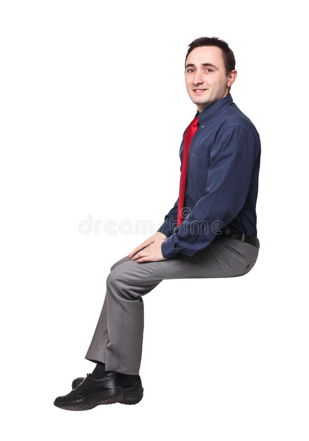 Download Sit man stock photo. Image of adult, isolated, smile - 29103060