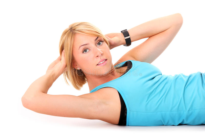 Download Sit-ups stock image. Image of lady, muscle, situps, athletic - 21441293