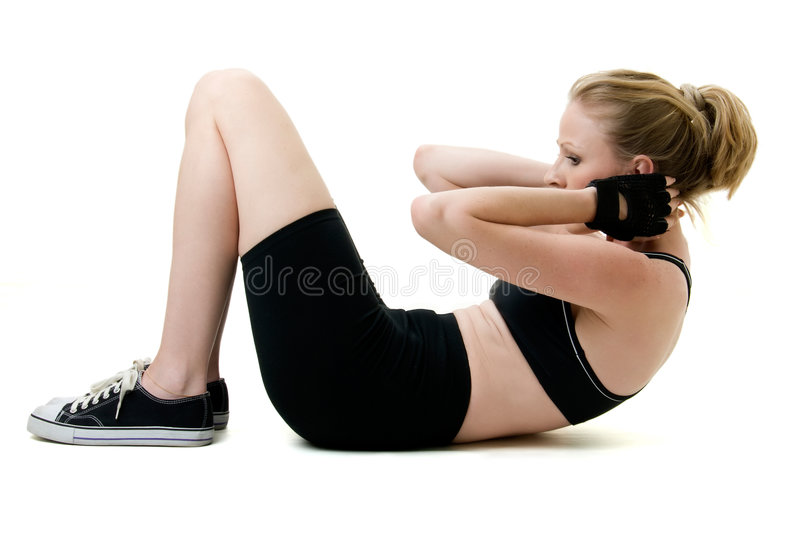 Sit ups stock photos