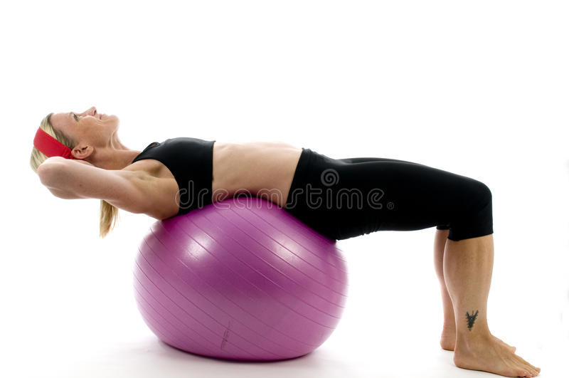 sit ups pose middle age woman fitness co royalty free stock photography